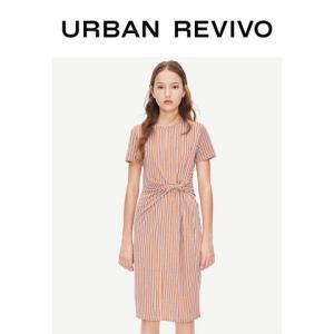 UR2019夏季新品青春女装魅力拼色条纹圆领连衣裙YL13S7ES2003 119元