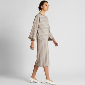 女装条纹V领连衣裙(长袖)420526优衣库UNIQLO 199元