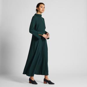 女装法兰绒喇叭长连衣裙(长袖)420527优衣库UNIQLO 199元