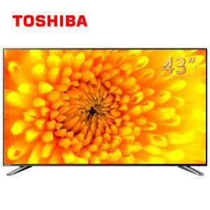 TOSHIBA/东芝43U3800C43英寸4K超高清智能火箭炮音响大内存纤薄液晶电视 1499元