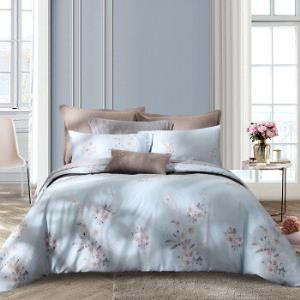 梦洁家纺MAISON床上用品纯棉印花四件套全棉床单被套木棉卢卡1.8米床248*248cm 369元