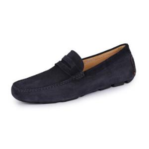 CANALI康纳利男士19春夏新款深蓝色牛皮平底休闲鞋261701RB0032031040码2150元