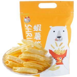 中国台湾阿民师虾薯条(芝士味)休闲零食膨化薯条薯片80g*11件 105.7元(合9.61元/件)