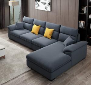 A家家具现代简约布艺沙发组合三人位+中位+右贵妃 2349元
