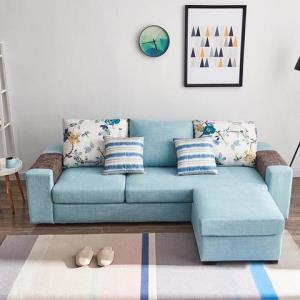 A家家具可拆洗布艺沙发三人位脚踏 1226元