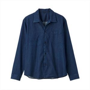MUJI无印良品男式印度棉牛仔方形剪裁衬衫 278元