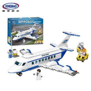星堡积木太空探索系列儿童拼装积木大型客机XB-16003多款可选 69元包邮