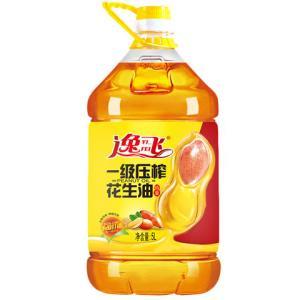 逸飞特香压榨一级花生油5L纯花生油食用油 78元