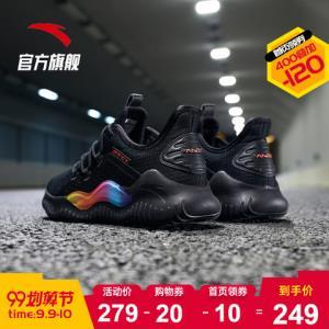 安踏男鞋官方旗舰店2019秋季新款男子学生舒适休闲跑步鞋运动鞋 279元