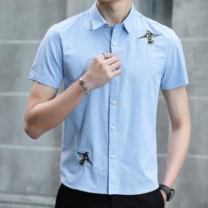 KARALCHI卡郎琪男士短袖纯棉衬衫*2件 116元(合58元/件)