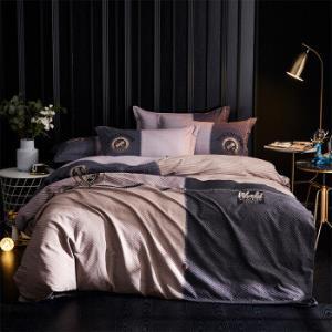 雅鹿・自由自在四件套纯棉全棉磨毛星级酒店保暖被套床单4件套床上用品1.5/1.8米床被套200*230cm安德烈    329元