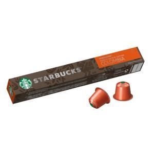 星巴克(Starbucks)纯正之源系列哥伦比亚咖啡咖啡胶囊57g(内含10颗)(Nespresso奈斯派索咖啡机49.5元