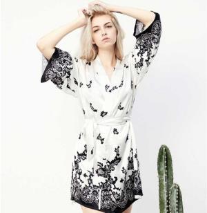 Singleness女士真丝印花吊带裙+睡袍1015.11元