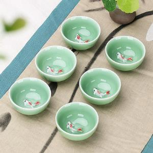 夏潔梅子青彩鯉杯6件套5.8元(需用券)