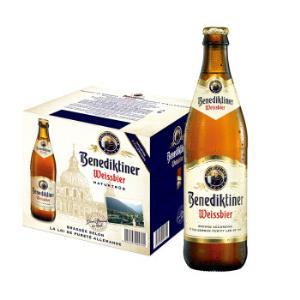 春节不打烊百帝王小麦白啤500ml*12瓶整箱德国进口修道院啤酒Benediktiner*2件170元(合85元/件)