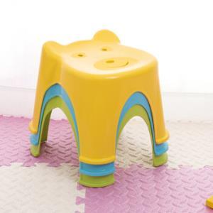 茶花儿童凳子塑料卡通防滑小椅子活力黄*3件41.79元(合13.93元/件)