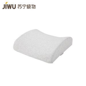 移动端:苏宁极物布艺记忆棉纤维慢回弹靠垫汽车腰靠 39元