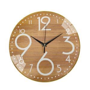 三合水木纹静音挂钟无框家用钟表石英钟表 45.7元(需用券)