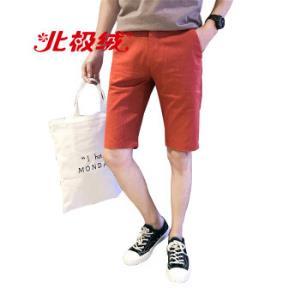 北极绒Bejirong短裤男休闲宽松嘻哈潮流时尚运动五分短裤木638红色32 24.5元