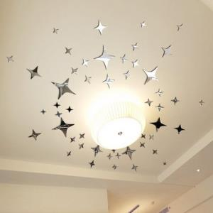 3d立体亚克力镜面墙贴客厅天花板儿童房卧室吊顶星星家居装饰贴画 10.74元(需用券)
