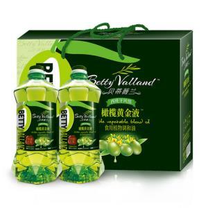 贝蒂薇兰橄榄油送礼食用油礼盒植物调和油1.5L*2 58元(需用券)