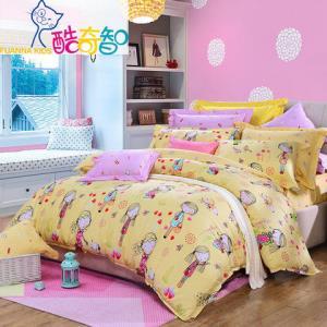 富安娜家纺酷奇智儿童卡通床上用品四件套纯棉斜纹床单被套1.8m 279元