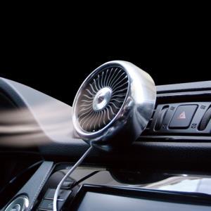 车载小电风扇5V12v24v汽车内降温神器车用风口座式强力制冷大风力 24.8元(需用券)