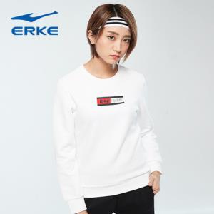 鸿星尔克(ERKE)(erke)女套头卫衣2019春季新款上衣修身字母圆领套头衫卫衣正黑S 102元(需用券)