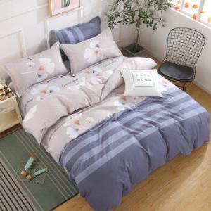 床上用品四件套植物羊绒棉宿舍被套床单被罩 79元