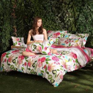 多喜爱家纺 四件套纯棉 时尚田园风全棉床单被套 床上用品 花城往事 1.5米床单  199元