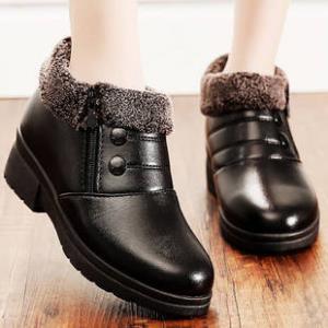 范爷真皮妈妈棉鞋加绒女鞋雪地靴     ¥30