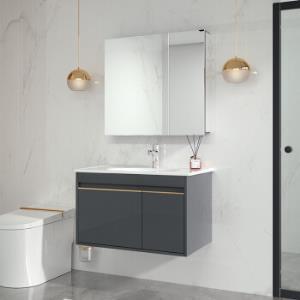 22日0点: JOMOO 九牧 蒂格系列 A2255 简欧浴室柜组合 80cm1899元包邮(前1小时)
