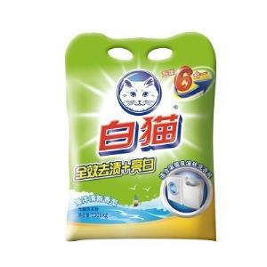 白猫全效去渍亮白无磷洗衣粉1308g袋装亮白亮彩全家皆宜手洗机洗易漂*3件 19.89元(合6.63元/件)