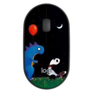 Logitech罗技Pebble鹅卵石无线静音鼠标小恐龙定制版 109元