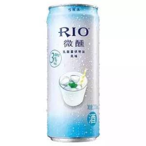 锐澳(RIO)洋酒预调鸡尾酒果酒微醺系列3度乳酸菌味+白桃味330ml*8罐*2件 62元(合31元/件)