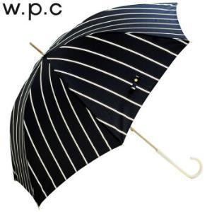 2018春夏wpc晴雨伞轻量易于持握个性设计母节花朵长柄晴雨伞条纹款8828-07深蓝 154元