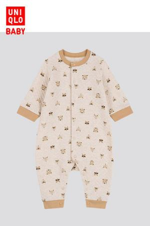 婴儿/新生儿压线连体装(长袖)419817优衣库UNIQLO 79元