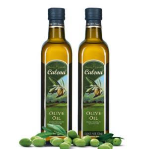 克莉娜calena纯正橄榄油1L压榨食用油500ml*2瓶 38.46元