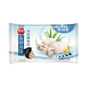 三全私厨水饺超级墨鱼饺360g(21只)*5件 104元(合20.8元/件)
