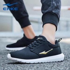 鸿星尔克(ERKE)男鞋跑步鞋正品2019新款面鞋透气轻便休闲运动鞋男 78元