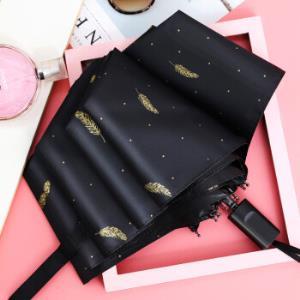 三折叠加厚黑胶防晒遮阳森系太阳伞 19.9元