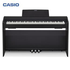 卡西欧(CASIO)电钢琴PX-870BK立式成年人儿童88键重锤考级时尚家居智能APP互动分享