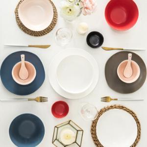 IJARL亿嘉北欧简约风家用陶瓷瓷器碗碟碗盘餐具套装碗碟套装锡兰岛巴克系列巴克42件套*2件