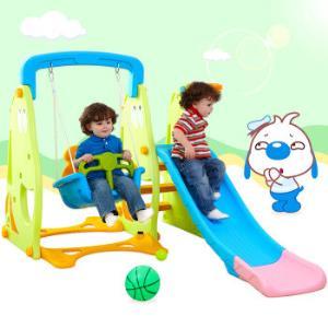 诺澳儿童室内滑梯家用多功能滑滑梯宝宝组合滑梯秋千塑料玩具258元