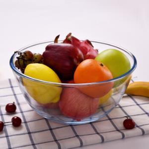 青苹果耐热高硼硅大号玻璃和面盆4.5L水果沙拉碗进烤箱打蛋盆蛋糕烘焙碗BLP01*5件70元(合14元/件)
