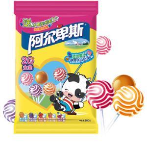 阿尔卑斯经典混合口味硬糖棒棒糖20支装儿童糖果+三只松鼠瓜子500g*2件    17.64元(合8.82元/件)