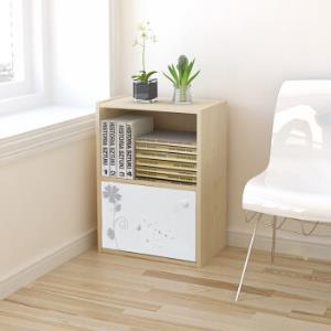 慧乐家书柜书架二层单门印花柜带门柜收纳柜白枫木色11260*3件 148.5元(合49.5元/件)