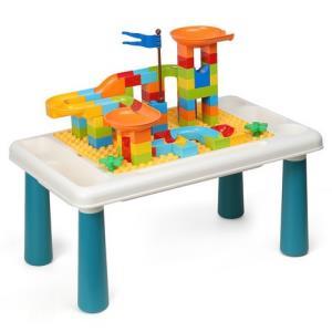 OMKHE多功能积木桌大颗粒+100颗粒滑道积木*2件 49.8元包邮(合24.9元/件)