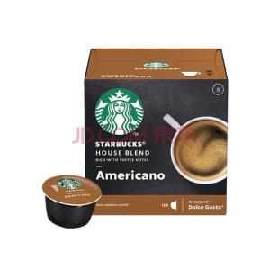 星巴克(Starbucks)咖啡胶囊特选综合美式黑咖啡(大杯)102g(雀巢多趣酷思咖啡机适用)*8件336元(合42元/件)