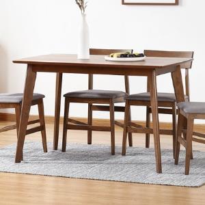 预售0点截止、预售:KUKa顾家家居1571系列实木餐桌餐椅组合1.2米+一桌四椅1999元包邮(定金100元,6日付尾款)